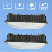 Led Canopy Light 45w Gym Gas Station Ceiling Light 5500k Super Bright Ip65 And 70w