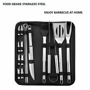 Bbq Set Stainless Steel Tools Grill Grilling Accessories Barbecue Kit Tool Case