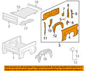 Gm Oem Pick Up Box Bed-side Panel Right 15294335