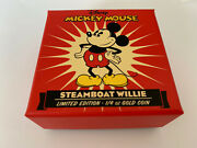 2014 Disney Steamboat Willie 1/4oz Gold Proof Coin