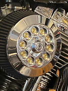 Jt's Cycles Genuine 7.62 Military Brass Bullets Chrome Air Filter Cover Harley