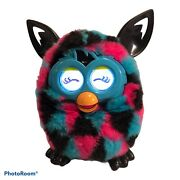 Furby Boom 2012 Hasbro Blue, Pink And Black Talking Interactive Toy - Working