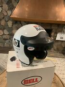 Bell Mag 4 Magnum Vintage Motorcycle Helmet Rahal Racing Signed 7 5/8 Open Face