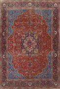 Antique Red Ardakan Floral Hand-knotted Area Rug Medallion Oriental 9x13 Carpet