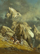 Frank Mccarthy Crossing The Divide With Old West Portrait Of Paintings Book