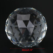Clear Cut Crystal Sphere 60/80/100mm Faceted Gazing Ball Prisms Suncatcher Decor