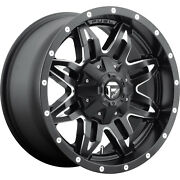 4- 18x9 Black Fuel Lethal D567 6x135 And 6x5.5 +20 Rims Amp Pro At 285/65/18 Tires