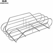 Kamado Bbq Ribs Rack For Grill Stainless Steel Barbecue Basket Shelf Cooking
