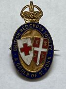 British Red Cross Society And Order Of St John George Fifth Vintage Enamel Badge