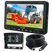 Ahd 720p, Super Clear, 7 Wired Monitor Rear View Backup Camera System For Farm