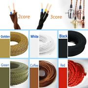 2/3 Core Vintage Fabric Twisted Electric Wire 0.75mm2 Woven Textile Retro Color