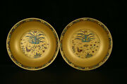 A Pair Chinese Porcelain Handmade Exquisite Plates 19994