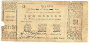 Texas C.s.a. State Angelina County Lufkin M-01 1 Oct 2nd 1862 Vg/f