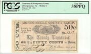 Texas C.s.a. State Montgomery County Montgomery M-02 50cts Jul28and03962 Pcgs35ppq