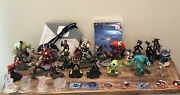 Lot 28 Disney Infinity 2.0 Figures, 7 Game Discs, 1 Portal And Ps3 Game - Marvel