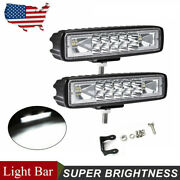 2x 6and039and039 18w Led Work Light Bar 4wd Offroad Spot Pods Fog Atv Suv Driving Lamp 12v