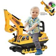 Movable Scooter Walker Kid Ride On Excavator Toy Tractors Digger Pretend Play