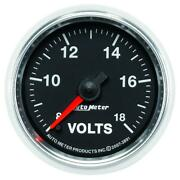 Auto Meter Voltmeter Gauge 3891 Gs 8 To 18 Volts 2-1/16 Full Sweep Electrical