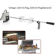 Automatic Electric Grill Rotisserie Meat Fork Roaster Rod Camping Barbecue Tools
