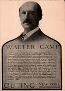 Ad Lot Of 2 1911- 13 Ads Walter Camp Book Of Football Yale Outing Magazine