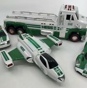 Hess Toy Lot 6 Pc Large Truck Plane Race Cars Suv 2009-14 Sounds Lights Working