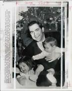 1967 Press Photo King Constantine And His Kids Paul And Alexia On Christmas In Rome