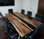 Live Edge Wooden Table Epoxy Resin River Table Natural Wood Dining Table Art
