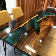 Epoxy Resin Dining Table Top Acacia Wood Live Edge Resin Coffee And Dining Table