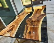 Resin Conference Table Live Edge River Coffee Table Unique Home Decor Gifts Arts