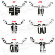 1-1/4 1.25 Engine Guard 32mm Long Angled Highway Foot Pegs For Harley Davidson