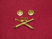 Vintage Wwii Military 36th Artillery Crossed Cannons Insignia Pin