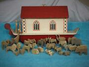 Antique War Relief Works Noah's Ark Made By Injured Wwi Soldiers In London C1918