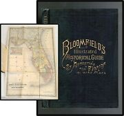 Florida History St. Augustine 1884 Bloomfield's Illustrated Historical Guide Map