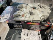 Star Wars Potf Millenium Falcon Electronic 1995 Tonka Tested Working Complete