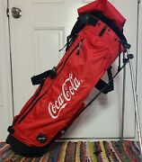 Belding Balance Sports Stand/carry Red Black Golf Bag With 4 Dividers Coca Cola