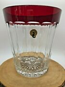 Waterford Lead Crystal Simply Red Ice Bucket
