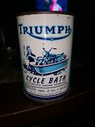 Early Vintage Triumph Cycle Bath Can Engine Degreaser Motorcycle Oil Can