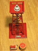 1949 Lionel 394 Tower, 394-37 Beacon, 394-10 Bulb Original Boxes - Untested