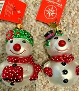 Christopher Radko Christmas Ornaments Holly Dolly Duo 2004 - New