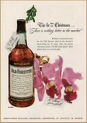 1947 A Old Forester Bourbon Whiskey Bottle True For 77 Christmases Print Ad