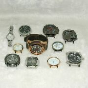 11 Pieces Assorted Watches Wristwatches Arts Crafts Parts Repair