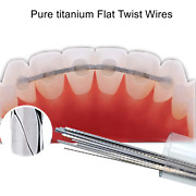 50pcs Dental Ortho Pure Titanium Retainer Wire Plate Twist Flat Straight Wires
