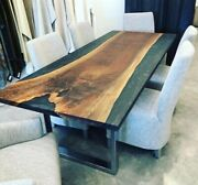 Epoxy Table Dining Wooden Table Epoxy Resin River Table Natural Wood Decor