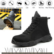 Womens Safety Boots Anti Smash Non Slip Steel Toe Shoes Breathable Mesh Lace Up
