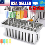 20pcs Stainless Steel Ice Cream Mold Ice Lolly Popsicle For Icepo