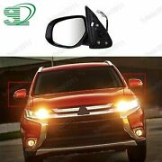 1x Left Side Front Power Door Mirror W/heated For Mitsubishi Outlander 2016-2018