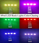 All Color Chasing Led Rock Light 8pod Led Underglow For Off Road Truck Jeep Atv
