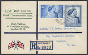 1948 Royal Silver Wedding Illustrated Registered Fdc Northfield Ave West Ealing