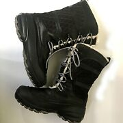 Columbia Heather Canyon Omni - Heat Black Womenand039s Snow Boot Bl1511-010 Size 6