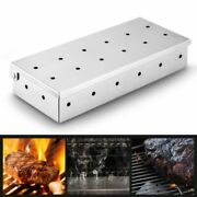 Wood Chips Bbq Smoker Box For Charcoal Gas Barbecue Grill Meat Infused Smoke